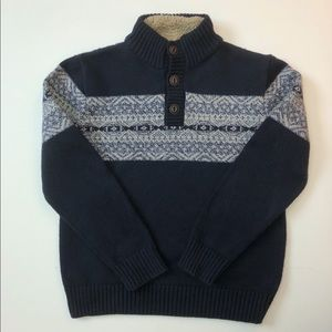 Gap Kids Sherpa Collar Fair Isle Sweater Boys XL